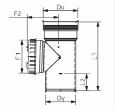 75 mm Renserør med dæksel afløb grå PP Wavin