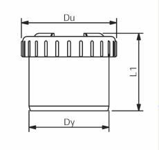 75 mm Wafix endedæksel grå