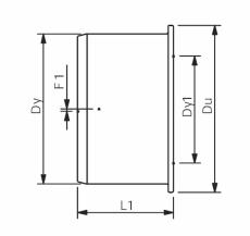 Wavin 110 x 50 mm grå PP-afløbsreduktion, kort model