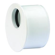50 x 32 mm Wafix PP reduktion kort hvid