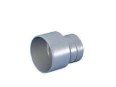 110 x 75 mm Reduktionsrør excentrisk lang afløb grå PP Wavin