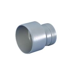 40 x 32 mm Reduktionsrør excentrisk afløb hvid PP Wavin