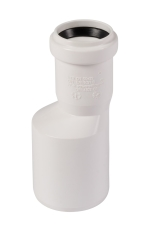 50 x 32 mm Reduktionsrør excentrisk afløb hvid PP Wavin