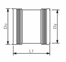 Wavin 110 mm grå PP-afløbsskydemuffe