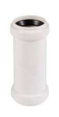 32 mm Dobbeltmuffe afløb hvid PP