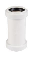 40 mm Dobbeltmuffe afløb hvid PP