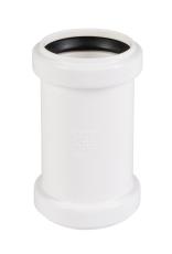 50 mm Dobbeltmuffe afløb hvid PP