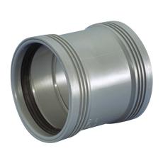 Wavin 110 mm grå PP-afløbsdobbeltmuffe