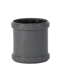 110 mm Dobbeltmuffe pp grå