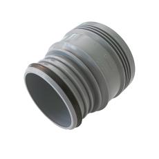 Wavin 110 mm grå PP-afløbserstatningsmuffe til rørspids