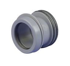 75 x 50 mm PP reduktion for spidsende grå