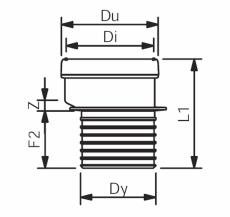 110 mm Wafix PP klosettilslutning kort