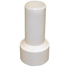 50 mm Tilslutningsrør med læbetætning hvid