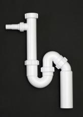 50 mm Vandlås med slangestuds hvid Juvel