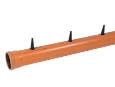 Wavin 110 x 6000 mm PVC-taprør med muffe