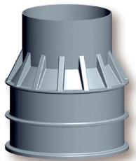 Uni-Seals 800/625 x 1250 mm kabelbrønd, rund