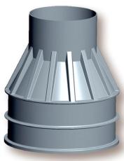 Uni-Seals 1000/625 x 1250 mm kabelbrønd, rund