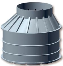 Uni-Seals 1600/1000 x 1500 mm kabelbrønd, rund
