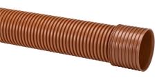 Uponor Double 400/351 x 6000 mm PP-rør m/muffe, SN8, u/gummi