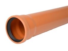 Wavin 110 x 2000 mm PVC-kloakrør m/muffe, klasse S SN8, EN 1