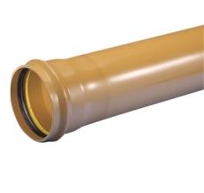 Wavin 250 x 6000 mm PVC-kloakrør med muffe, klasse S SN8, EN