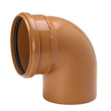 Uponor 250 mm 88 gr. PVC-kloakbøjning