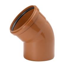 Uponor 250 mm 45 gr. PVC-kloakbøjning