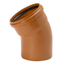 Uponor 200 mm 30 gr. PVC-kloakbøjning