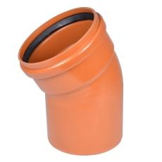 Wavin 200 mm 30 gr. LITE PVC-kloakbøjning, SN4