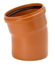 Uponor 250 mm 15 gr. PVC-kloakbøjning