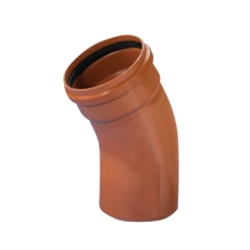 Wavin 500 mm 15 gr. PVC-kloakbøjning