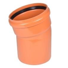 Wavin 250 mm 15 gr. LITE PVC-kloakbøjning, SN4