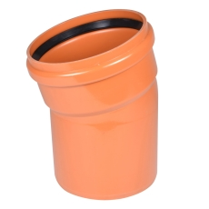 Wavin 315 mm 15 gr. LITE PVC-kloakbøjning, SN4
