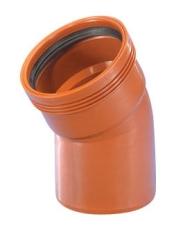 Wavin 110 mm 30 gr. PP-kloakbøjning, leveres i palle