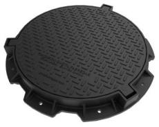 Uni-Seals 625 mm dæksel til kabelbrønd, rund, 1,5 t, komposi