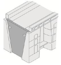 Uni-Seals endestykke han 200/100 x 230/155 mm til banekanal