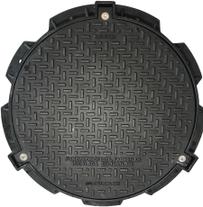 Uni-Seals 625 mm dæksel til kabelbrønd, rund, 40 t, komposit
