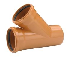 Uponor 200 x 200 mm 45 gr. PVC-kloakgrenrør