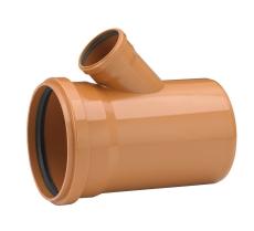 Uponor 250 x 110 mm 45 gr. PVC-kloakgrenrør