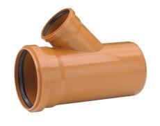 Uponor 250 x 160 mm 45 gr. PVC-kloakgrenrør