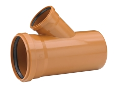 Uponor 315 x 250 mm 45 gr. PVC-kloakgrenrør