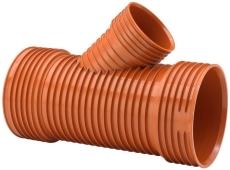 Uponor Double/Rib2 315 x 250 mm 45 gr. PP-grenrør, u/gummiri