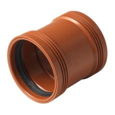 Wavin 110 mm PP-kloakdobbeltmuffe, leveres i palle