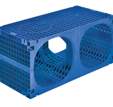 Wavin Q-BIC 1200 x 600 x 600 mm regnvandskassette, blå