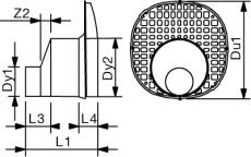 Wavin Q-BIC 315 x 160 mm tilslutning til regnvandskassette