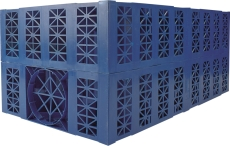 Wavin Aquacell 1000 x 500 x 400 mm regnvandskassette, blå, 1
