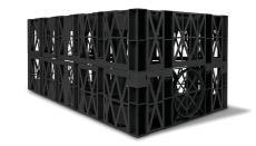Wavin Lite 1000 x 500 x 400 mm regnvandskassette, sort, 192