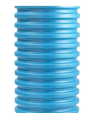 Wavin 425 x 1000 mm PVC-opføringsrør uden muffe, blå