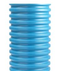 Wavin 425 x 2000 mm PVC-opføringsrør uden muffe, blå