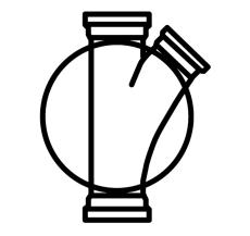 Wavin 110 x 425 mm TP4-brønd, glat, højre tilløb